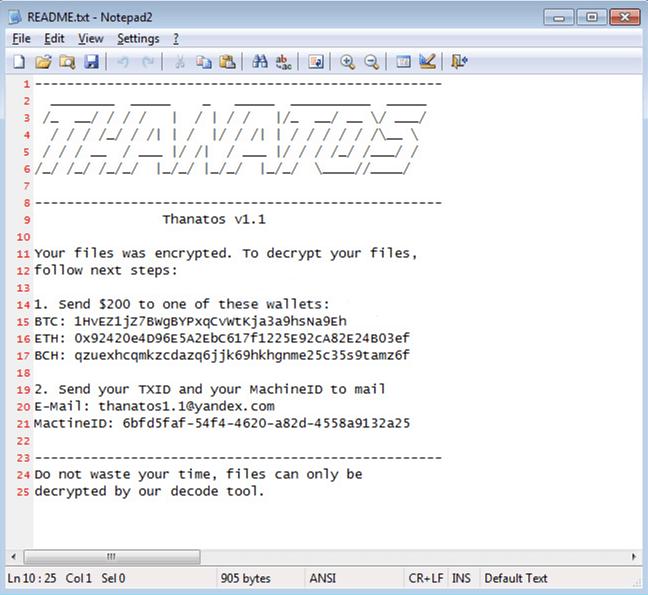 Thanatos Ransomware - Latest Computer Virus 2020