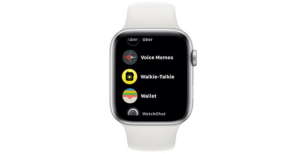 First Click on the Round-Shaped Yellow Icon to Use Walkie-Talkie on Apple Watch
