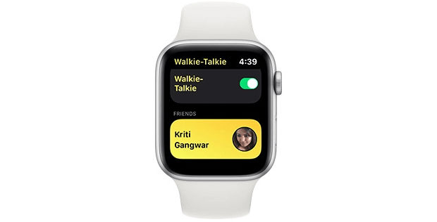 Contact Card of That Person to Use Walkie-Talkie on Apple Watch