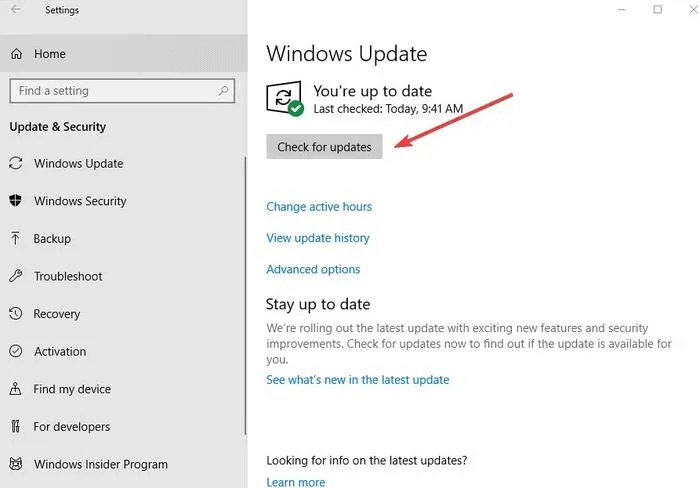 Update Windows to Fix Copy and Paste Issue in Windows