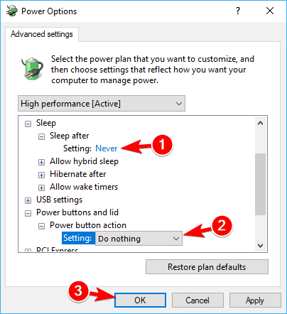 Change the Power Plan Settings to Fix Driver Power State Failure