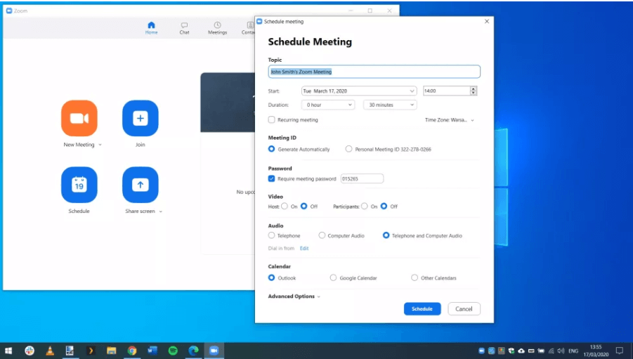 Host a Meeting For Zoom Video Conferencing