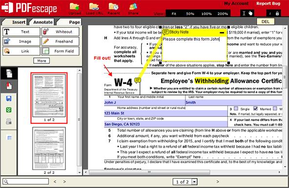 PDFescape - Free Mac PDF Editor