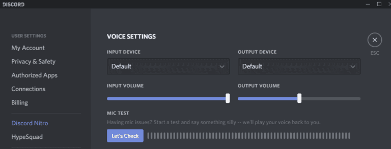 Check If Discord is Connected to the Correct Microphone