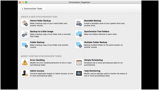 Chronosync - Best Disk Cloning App For Mac 2020
