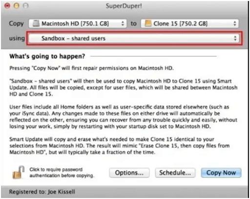 SuperDuper - Disk Cloning App