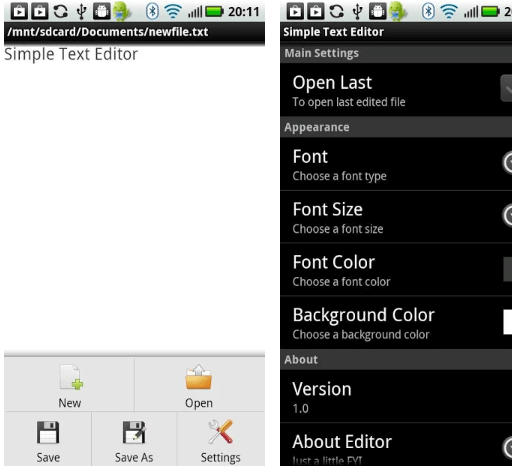 Simple Text Editor App For Android