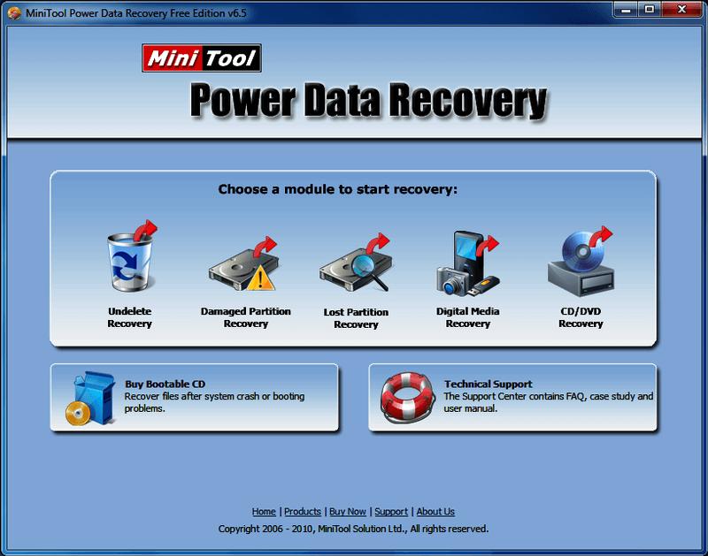 MiniTool Data Recovery Software Free