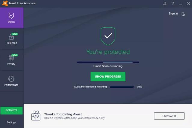 Avast Free Antivirus - Best Spyware Removal Tool