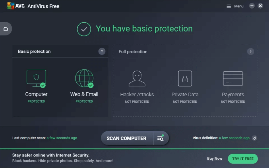 AVG Antivirus - Best Free Spyware Removal Tools For Windows