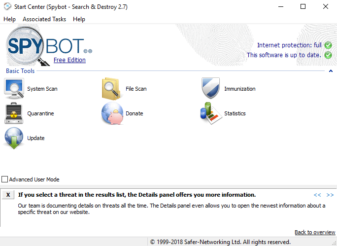 Spybot - Best Free Anti-Spyware Tools For Windows
