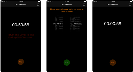 Nobile Alarm - iOS Phone Activity Tracker App