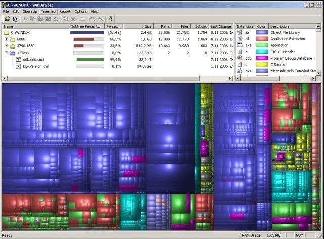 WinDirStat - Best Windows Disk Usage Analyzer Software