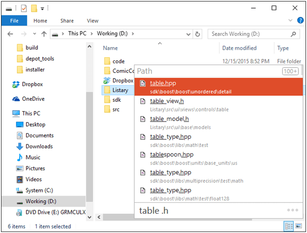 Listary - Desktop App Launcher for Windows