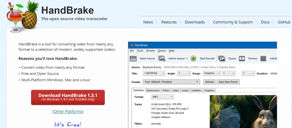 Handbrake - Best Video Converter Software For Windows