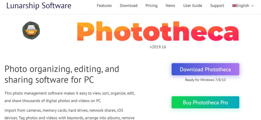 Photo Management Software - Phototheca