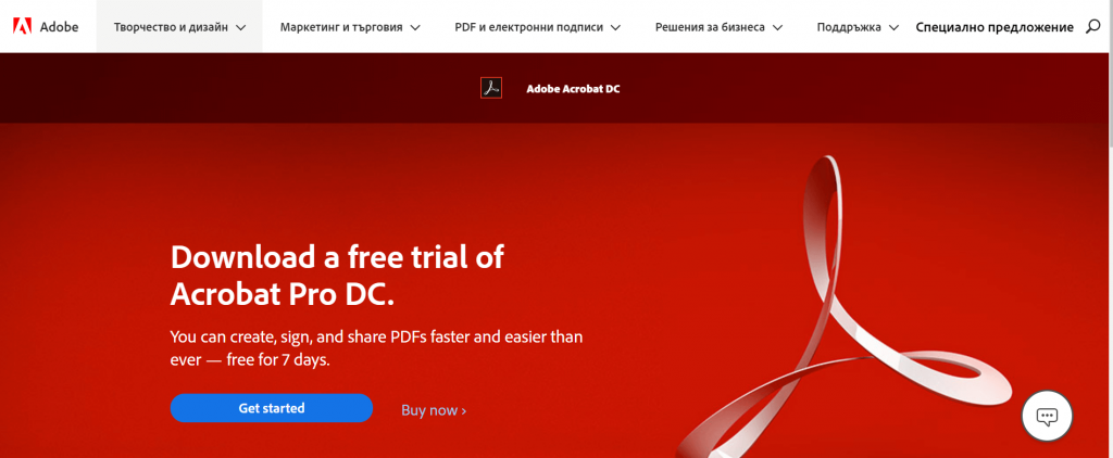 Adobe Acrobat Pro DC - PDF Editing Software For Windows