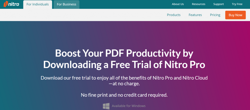 Nitro Pro PDF - Best Free PDF Editing Software For Windows