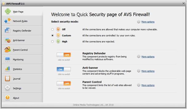 AVS Firewall - Best Free Firewall Software For Windows