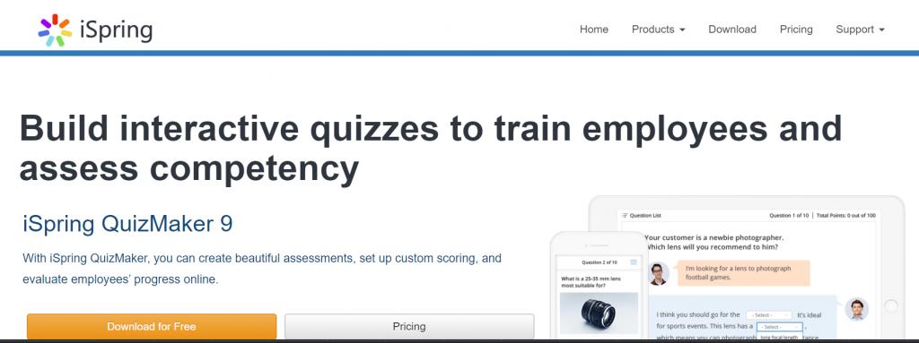 iSpring QuizMaker Software