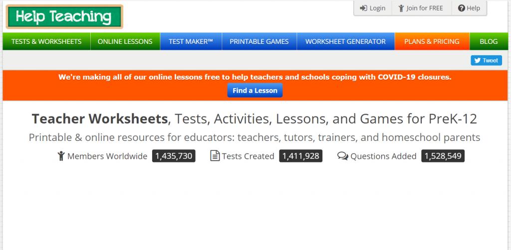 Help Teaching - Online Quiz Maker