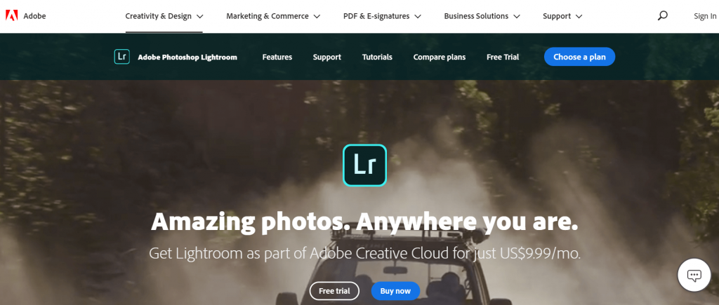 Adobe Lightroom - Online Mac Photo Editing App