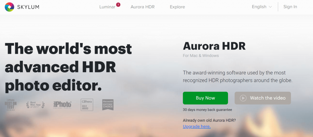 Skylum Aurora HDR - Best Photo Editing Apps and Software For Mac