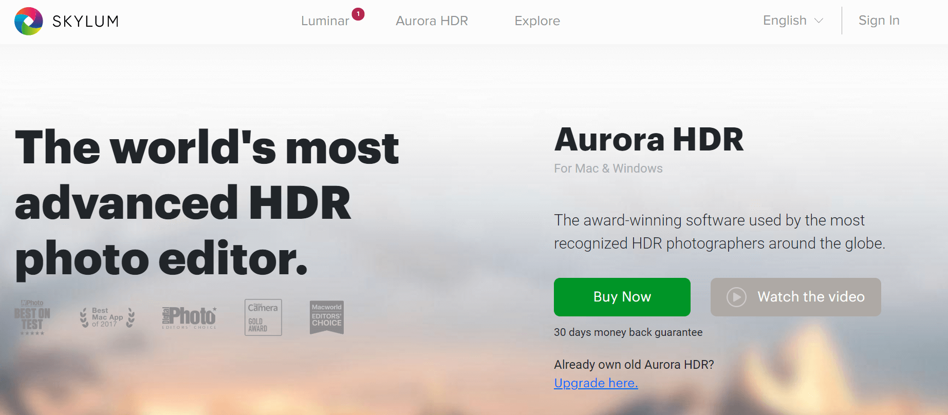 Aurora HDR - Photo Editing Software For Windows