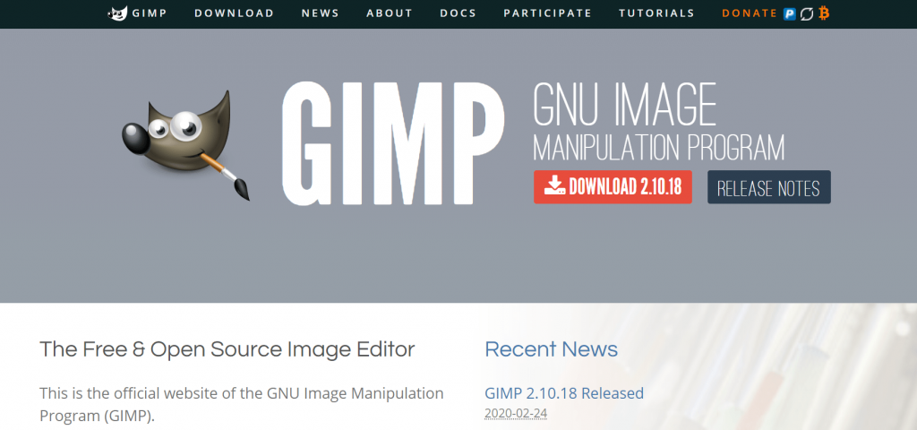 GIMP - Best Photo Editor Tool For Mac