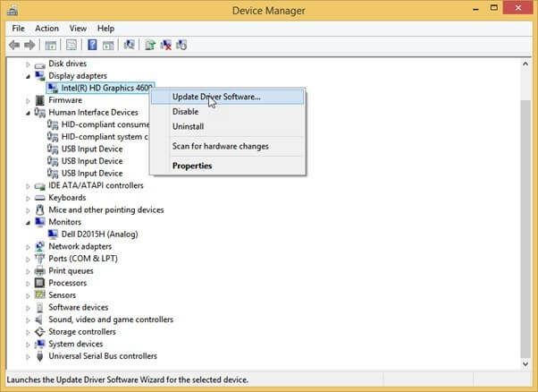 Update Drivers Using Device Manager