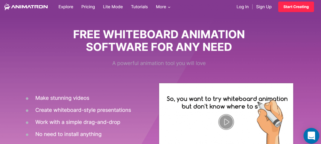Animatron - Free Software For Creating Whiteboard