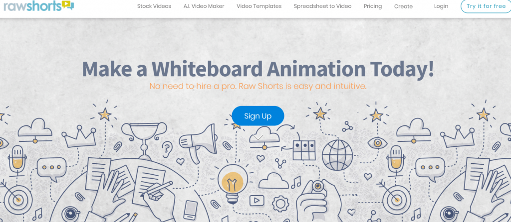 RawShorts - Best Whiteboard Animation Makers