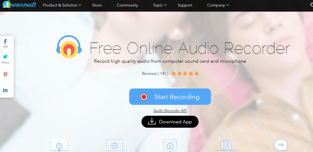 Apowersoft - Best Audio Recording Software for Mac
