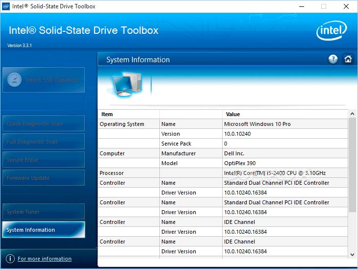 Intel Solid-State DriveToolbox