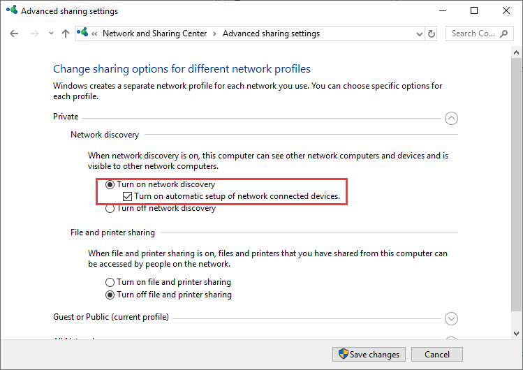Enable Network Discovery to Solve Minecraft LAN Not Working Issue