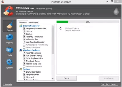 Cleaner Software - CCleaner