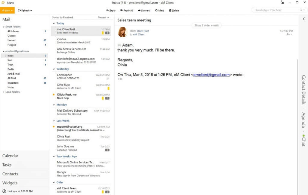 eM Client - Best Email Apps For Windows