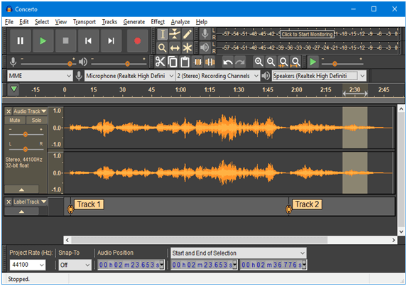 Audacity - Best Audio Editing Software for Windows
