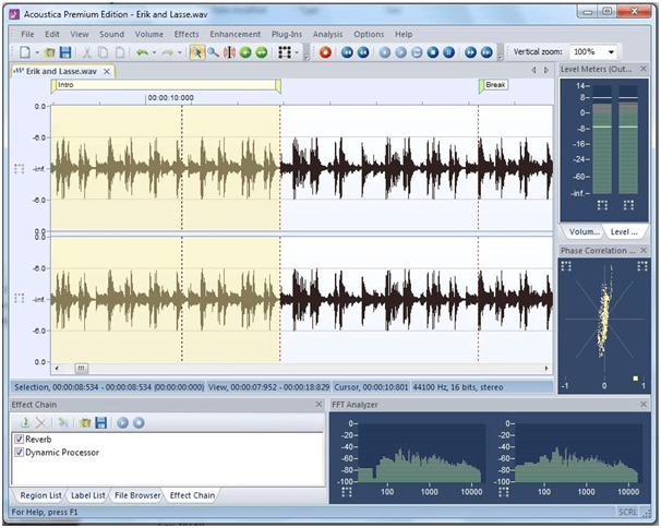 Acoustica Basic - Windows Audio Editing Software