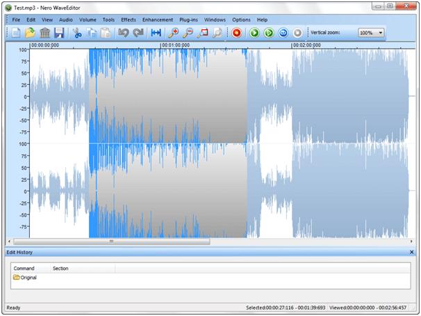 Nero Wave Editor Software