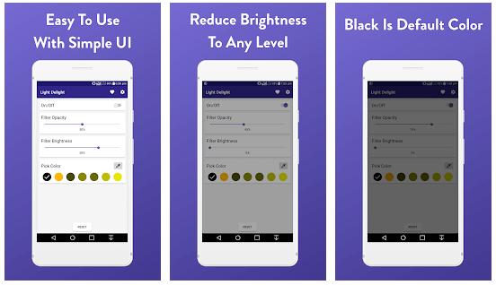 Low Brightness, Blue Light Filter - Light Delight