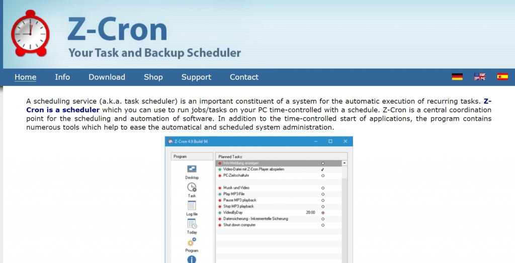 Z-Cron - Free Windows Scheduler Apps