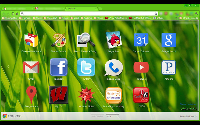 Green Turf - Default Google Chrome Incognito Mode Color Theme