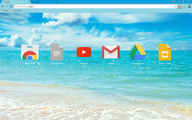 Summer Holiday - Default Google Chrome Incognito Mode Color Theme