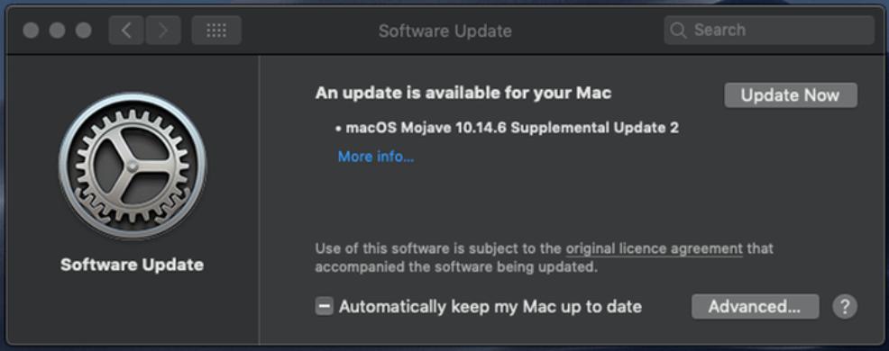 Cập nhật thiết bị của bạn thường xuyên để tăng tốc máy Mac của bạn