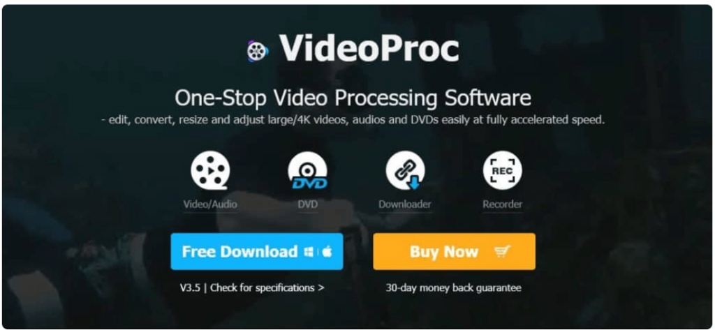 Video Proc Software For Video Converter