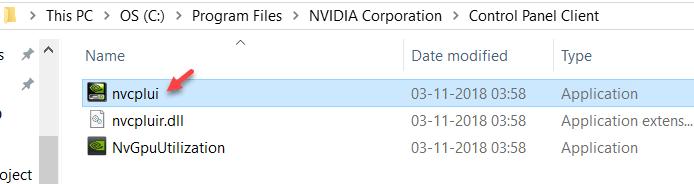 Manually Launch Nvidia Control Panel