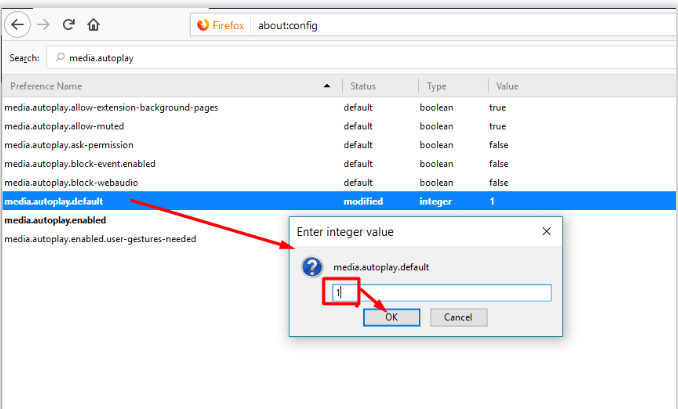 Disable Autoplay Videos in Firefox - 1
