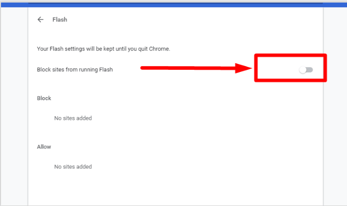 Deactivate Flash Video Player to Disable Autoplay Videos