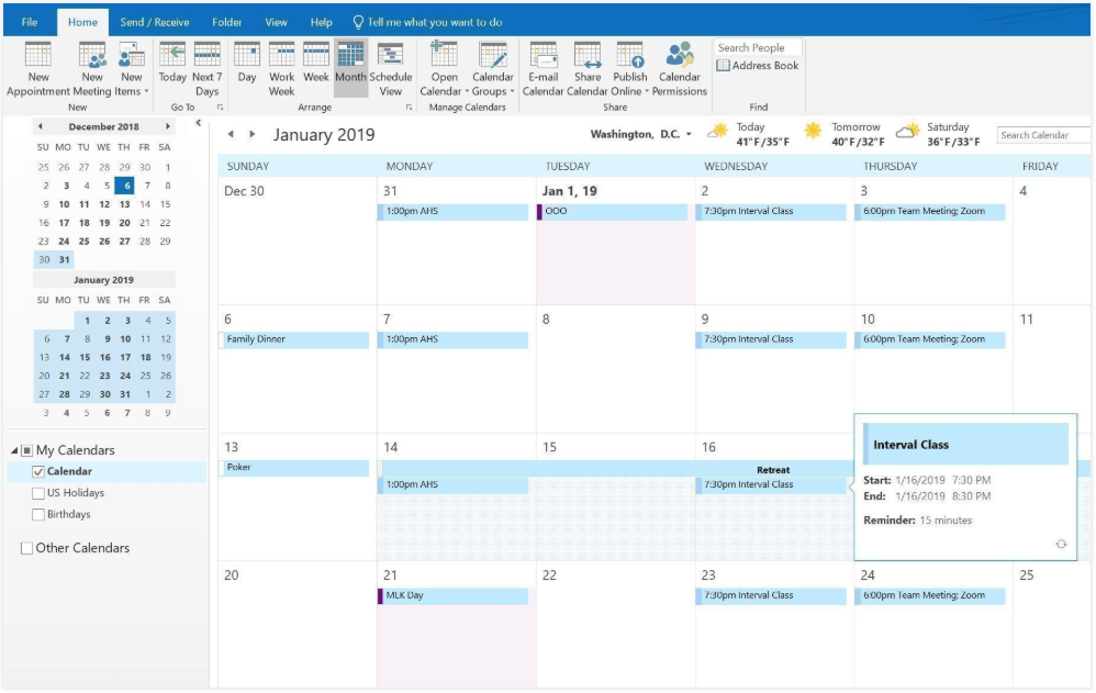 Microsoft Outlook Calendar For Windows